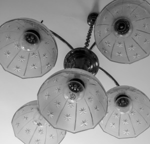 Original lighting fixtures at Pond Spring (photo by Marjorie Kaufman)